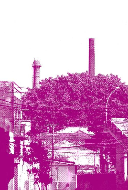 Ó_Caminho-Estrada-Avenida_Gilberto-Tomé_4_vista-das-chaminés-da-antiga-vidraria-Santa-Marina-a-partir-do-começo-da-av-Santa-Marina_web